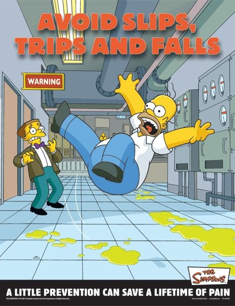 Slips Trips and Falls Poster
